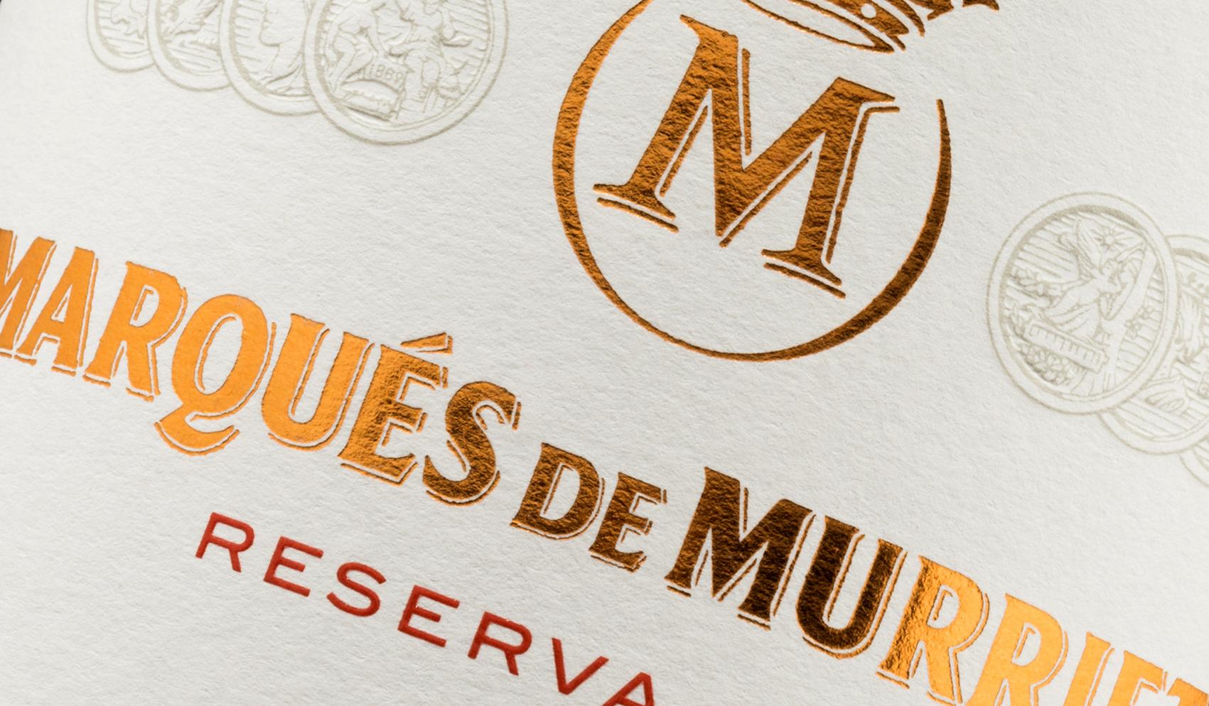 Vino Marqués de Murrieta. Etiquetas adhesivas. Labelgrafic.
