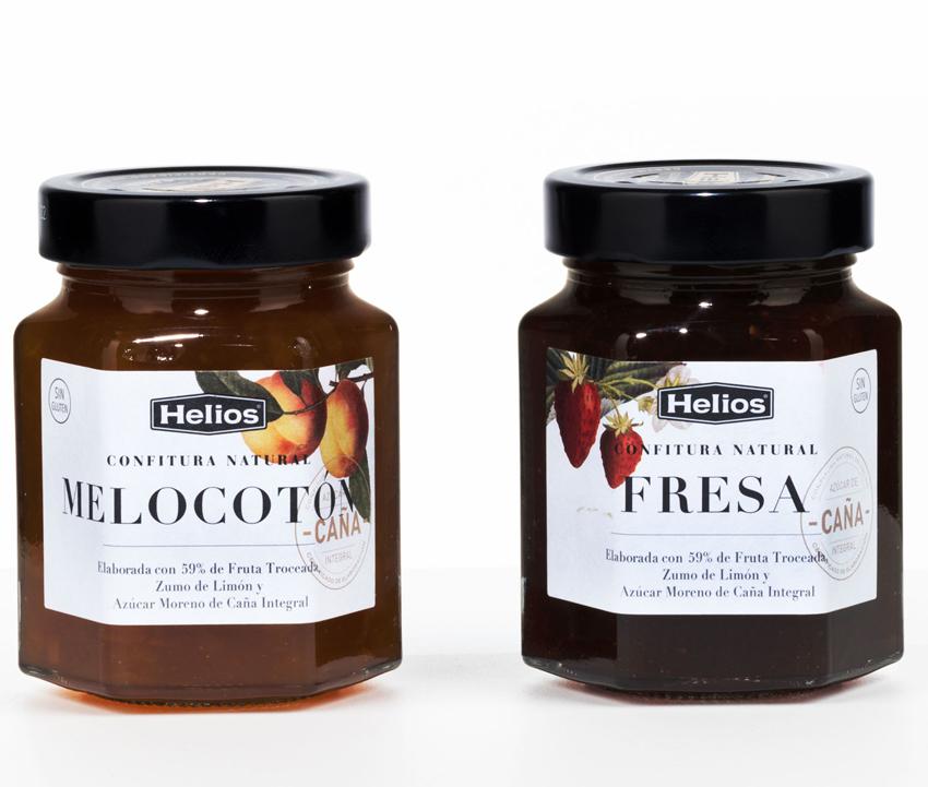 Botes Confituras Naturales Helios. Etiquetas adhesivas. Labelgrafic