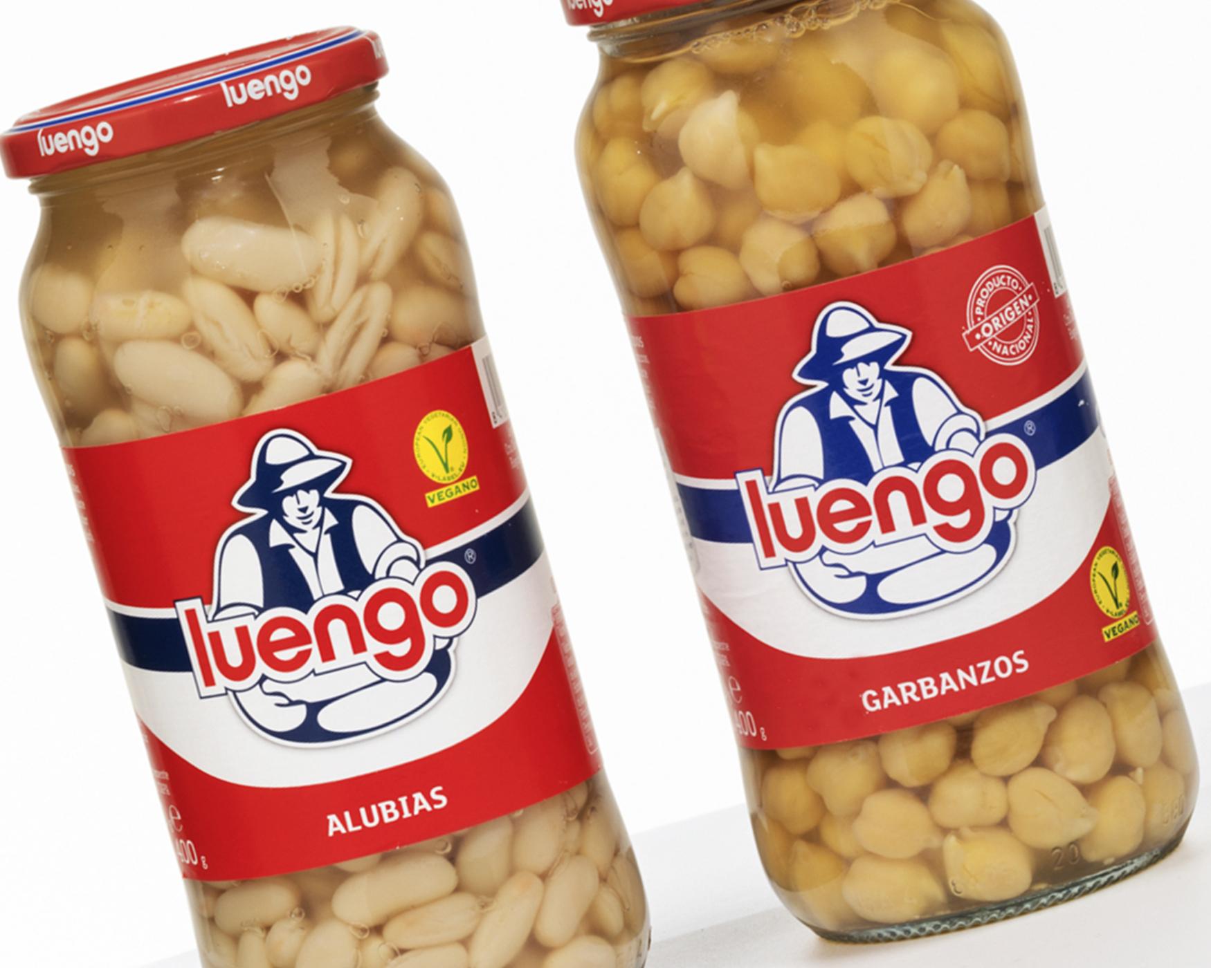 Legumbres Luengo. Etiquetas encolables. Labelgrafic