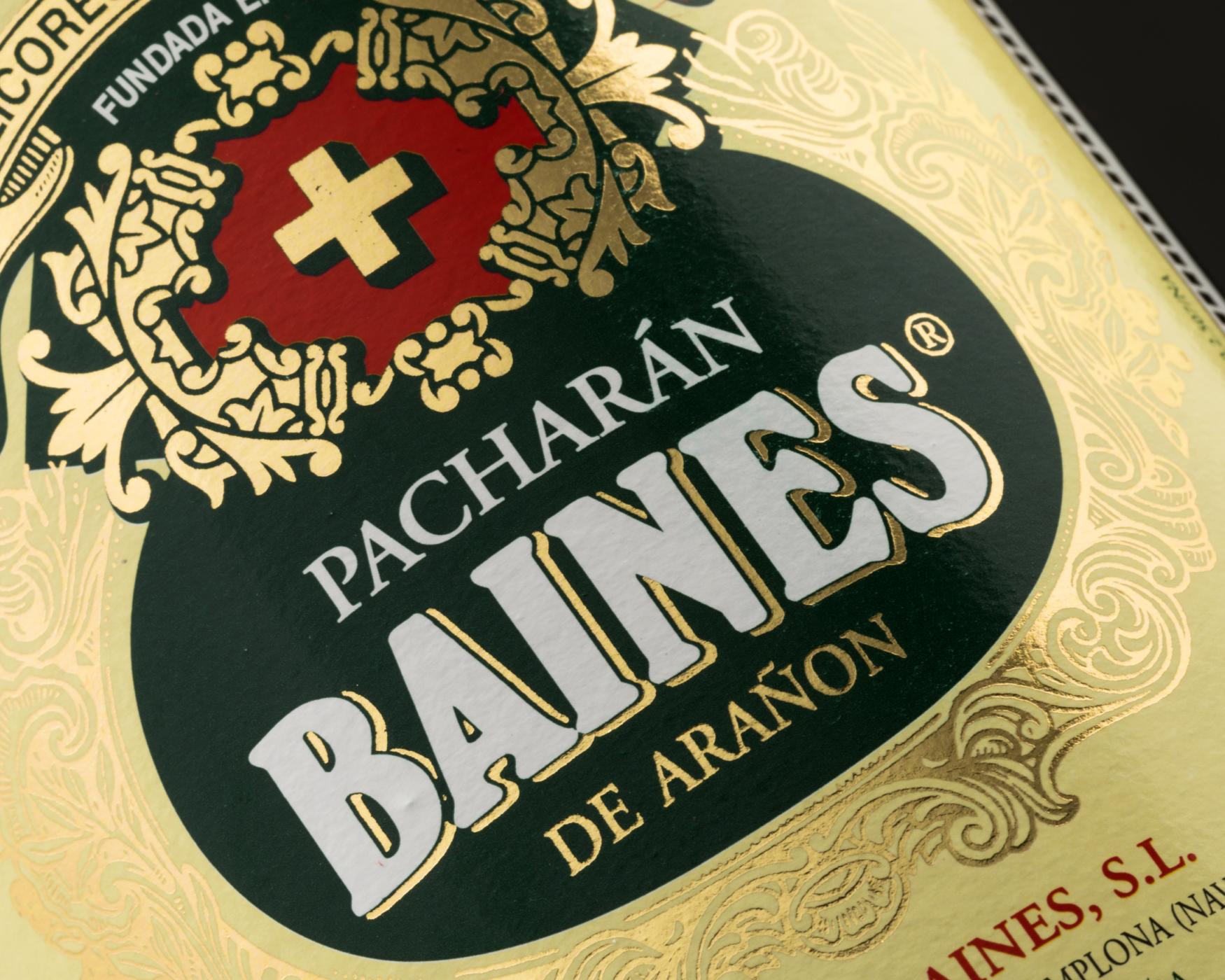 Pacharán Baines. Etiquetas encolables. Labelgrafic