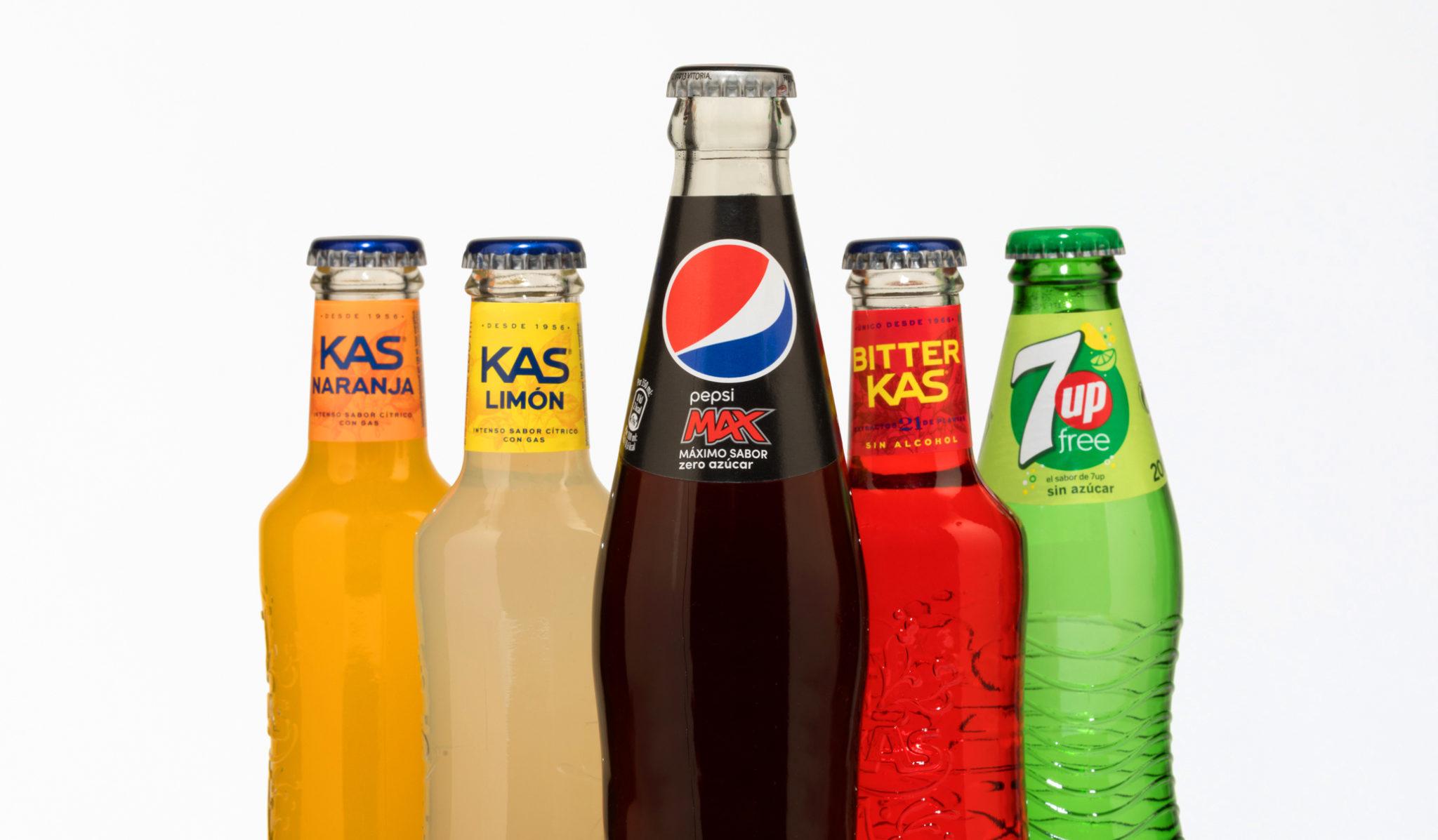Refrescos Pepsico. Etiquetas encolables. Labelgrafic